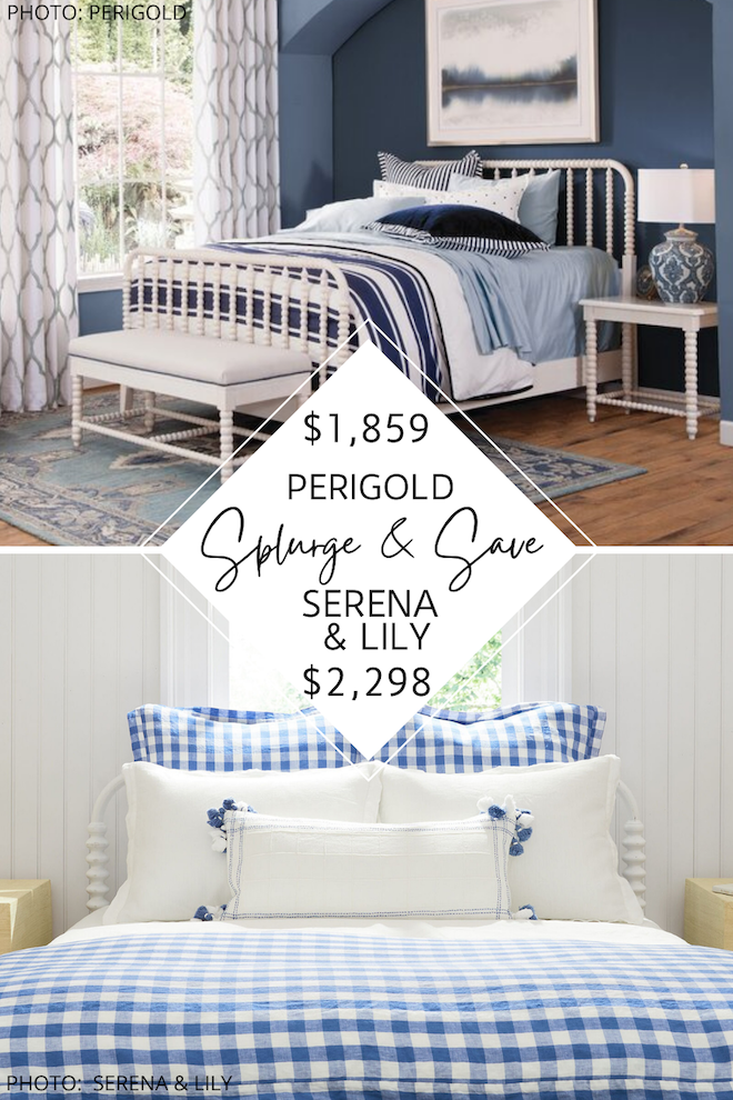 Looking for a Jenny Lind bed for your kids bedroom? If you need home decor inspiration, you've got to see my Serena and Lily Webster bed dupe. This spool and spindle bed will give you the Serena and Lily look for less. It would look great in a master bedroom, kids room, or guest bedroom! #inspiration #decor #design #knockoff #copycat
