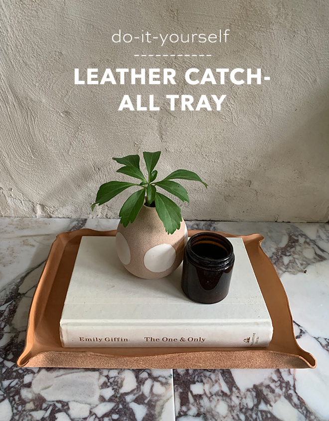 Check out this fab DIY leather tray, perfect for fall styling updates!