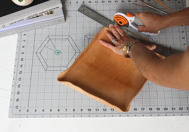 Make a fabulous leather tray with this simple afternoon project!