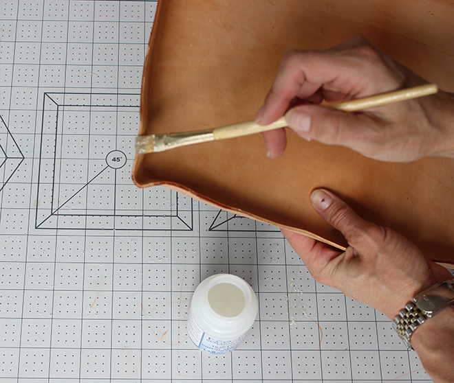 Style the perfect coffee table with this DIY leather tray!