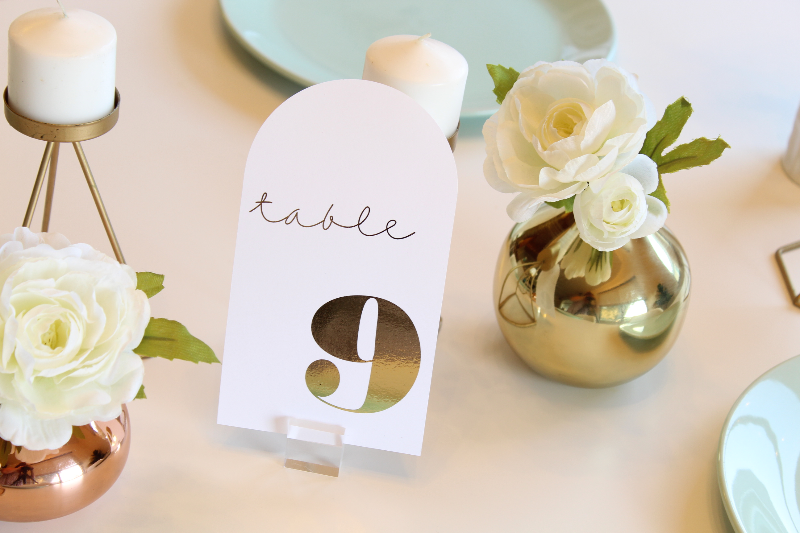 You don't want to miss these ADORABLE DIY Modern Foiled Table Numbers!