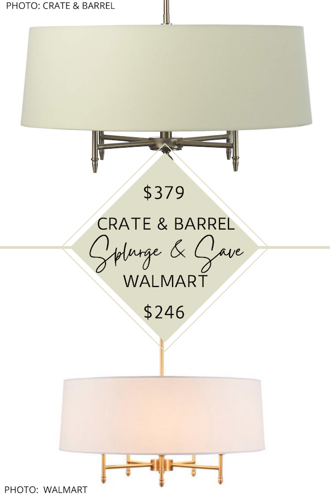 Looking for a new chandelier for your living room, dining room, bedroom, or kitchen nook? If you love modern transitional lighting, you've got to see this Crate and Barrel chandelier Spend and Save. Home decor dupes are a great way to decorate on a budget. #inspiration #decor #design #arlington