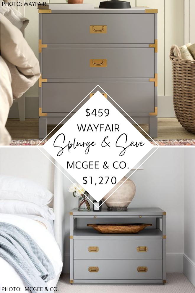 Do you love Studio McGee dupes? If you're looking for a McGee and Co. Kelan dresser dupe, you've just found it! Love this for a master or guest bedroom. #inspiration #decor #copycat #knockoff