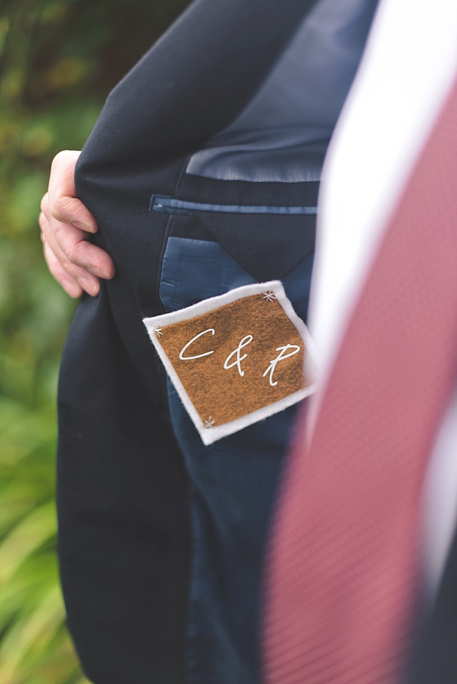 Easy DIY Wedding Groom Jacket Patch