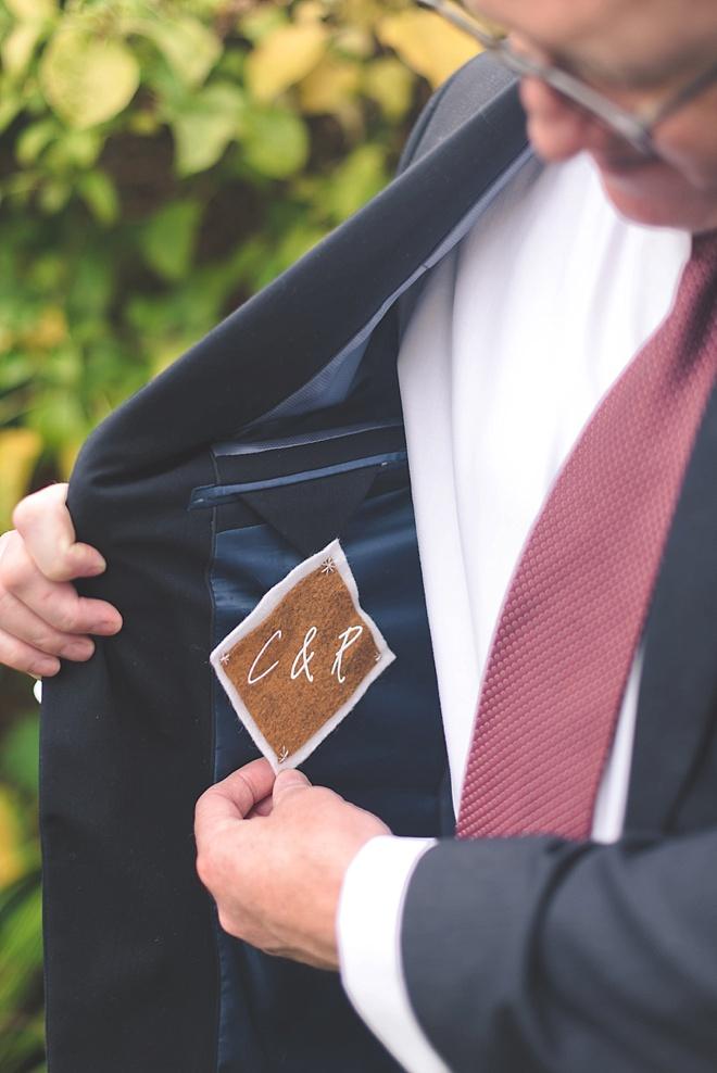 Groom Wedding Jacket Patch