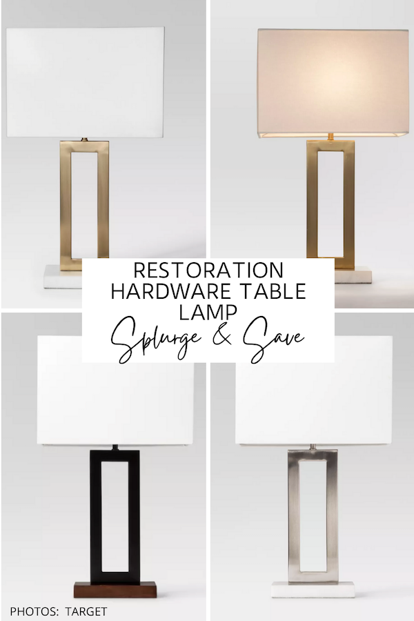 This Restoration Hardware lamp dupe is AMAZING! And guess what?! It's from Target! If you're looking for a Clarke lamp copycat, I've found it! #knockoff #lookforless #decor #bedroom